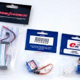 11.1v 910mAh LiPo and 8-gram servos from Hobby Lobby International