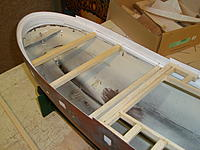 Name: 5.jpg Views: 40 Size: 901.5 KB Description: Inner bulwarks are built up and deck support has been added, all light weight material have been used of course.