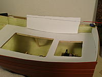 Name: 5.JPG Views: 40 Size: 532.4 KB Description: 1st piece of .020 styrene goes on over the visible part of the rough hull interior