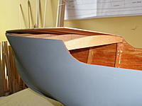 Name: P8140004.jpg Views: 192 Size: 168.9 KB Description: Forward deck supports have been put in, plywood sub-deck going on.