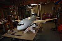 Name: IMG_3469.jpg Views: 121 Size: 142.7 KB Description: Plane assembled to check gear height and nacelles