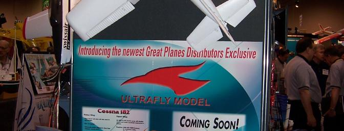 The UltraFly display at Great Planes' booth, Toledo.