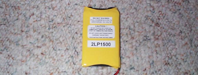Battery America kindly provided this 1500mah Lithium Polymer battery for this review.