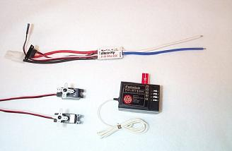 Futaba R114H receiver, S3103 servos, and Electri-Fly C-30 speed controller