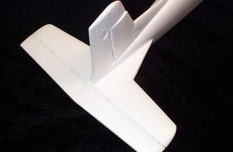 I trial-fitted the stabilizer and vertical fin before glueing in place.
