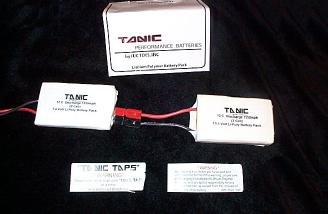TanicPack 1550mah 2-cell and 3-cell LiPoly.