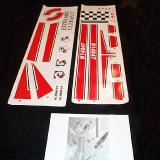 Instruction manual and decal set.