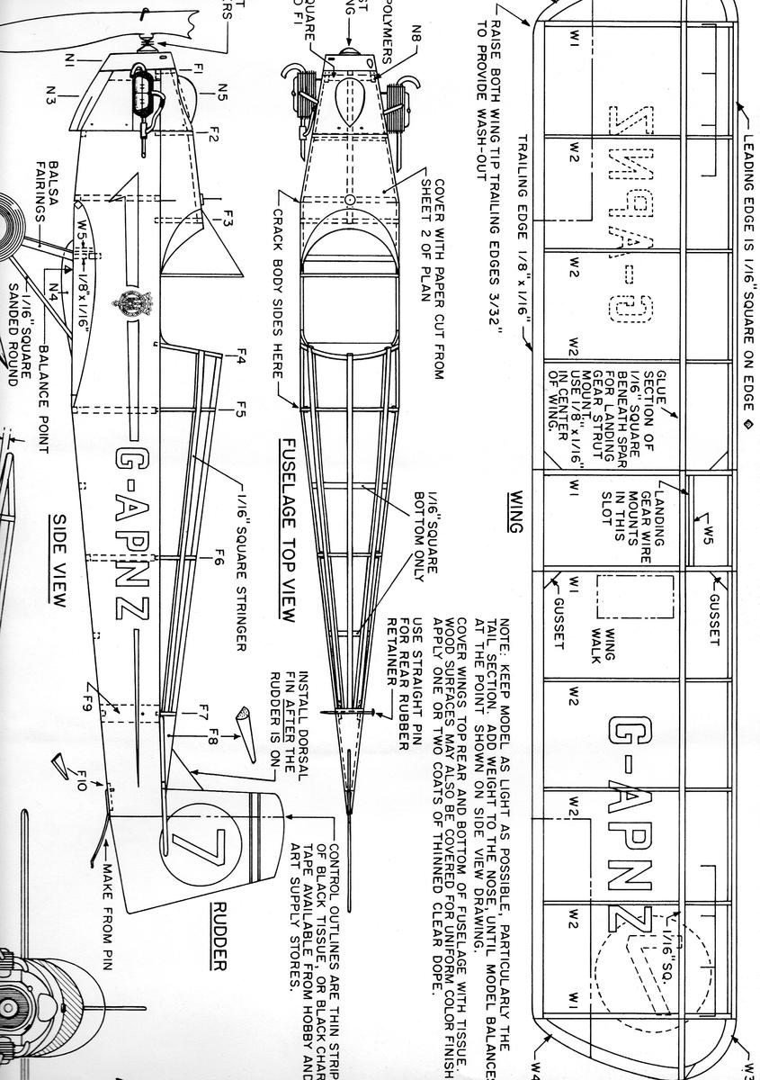 Attachment browser: plan druine turbulent fuselage.jpg by
