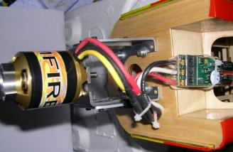 View of motor and ESC