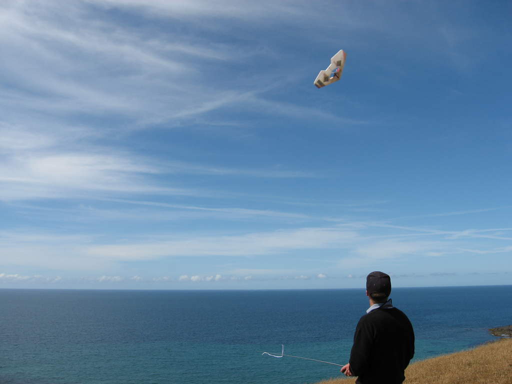 Name: Picture 7355.jpg Views: 242 Size: 32.4 KB Description: Paul flying his EPP delta.