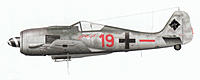 """Name: Red 19.jpg Views: 596 Size: 257.8 KB Description: Red 19 """"Kölle Alaaf"""", Unteroffizier Ernst Schröder, 5./JG 300, Fall 1944 (Red Band and camo as in the next picture)"""