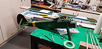 Name: 20190611_211906.jpg Views: 195 Size: 2.98 MB Description: I deviate from the paint scema and make a yellow nose cowling, so the old eye can see the bird better with all that Tarnfarbe.