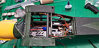 Name: 20190615_162923.jpg Views: 190 Size: 2.76 MB Description: Wireing is in, not the neatest job, but it works. I mounted the distribution board to the back, so it is out of the way when installing the flight pack.