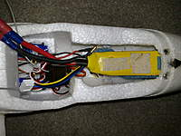 Name: 08022010128.jpg Views: 407 Size: 97.1 KB Description: chopped out a bit of foam to fit a 2200 3s so now get 20-30min flight times :)