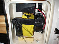 Name: DSCN8257 (2).jpg Views: 126 Size: 90.1 KB Description: This is Chidago's set up - he modified the tray to accept an even stronger Futaba Sail servo in his boat. Notice his lines are the Spectra line a lot of RC sailors use.