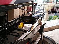 Name: Electronics bay servo arms.jpg Views: 42 Size: 139.0 KB Description: Battery pack and the receiver  under the deck held by Velcro  under side of the deck also in a balloon