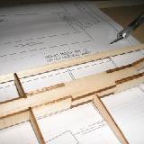 Cutting leading edge to length (it's easier to make it shorter than longer!).