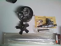 Name: Turbax Fan paint spray and new erngine 3.jpg Views: 123 Size: 138.5 KB Description: unused Turbax fan with a little paint over spray, New motor and new pipe