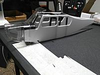 Name: IMG_20170802_034639.jpg Views: 43 Size: 544.1 KB Description: Fit test. Looks good. Next will be attaching landing gear, electronics, adding top and bottom fuse panels, painting the plastic,  and adding the tail section and fuse decals.