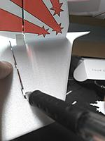 Name: IMG_20170803_155849.jpg Views: 21 Size: 243.0 KB Description: align and mark with pen to cut other hinge slots in the rudder.