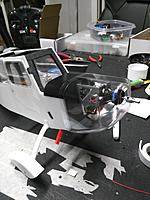 """Name: IMG_20170807_174710.jpg Views: 31 Size: 410.3 KB Description: Cut a hole big enough for the motor shaft to pass thru the center with about 3/4"""" clearance around the shaft."""