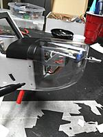 Name: IMG_20170807_175036.jpg Views: 33 Size: 323.9 KB Description: Place the cowl over the fuselage about 5 or 6mm (aligned with back edge of fire wall) and mark the holes for the hard point screws. I use a dry erase marker and then just use an exacto knife tip to twist holes into the cowl.