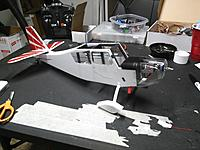 Name: IMG_20170807_175220.jpg Views: 25 Size: 655.0 KB Description: I had to replace the dash piece and new bulkheads to make a better fit from some of the first steps, so I have now trimmed the edges to match the edge of the fuselage side panel (upper edge 3mm foam) and glued in place