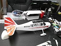 Name: IMG_20170808_194626.jpg Views: 34 Size: 607.0 KB Description: Coming up shortly- Finishing of the belly panels, battery tray, and fuselage completing. I still need to show the tail wheel and strut assembly and also hook up the LED's on the fuse.