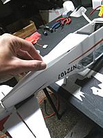 Name: IMG_20170809_211841.jpg Views: 24 Size: 322.7 KB Description: This can be tricky to get the edges to line up perfectly for a nice bevel.. So I glue the front and back portions first, and leave the center unglued. Then just CA one side at a time so you can take it slow.