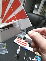 Name: IMG_20170809_225425.jpg Views: 23 Size: 269.0 KB Description: (In the step before you add the Rudder), attach the PTFE tube to the end of the fuselage with either glue or clear tape. Obviously, if you use glue, don't let any get into the tube. Insert the wire at the top thru the 3mm foam rudder leading edge with CA