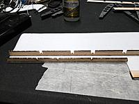 Name: IMG_20170818_232625 - Copy.jpg Views: 27 Size: 705.9 KB Description: Glue em' in. Make sure the bend on the end of the longer spars is over the wing center/fuselage.