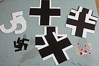 Name: IMG_3773.JPG Views: 9 Size: 149.6 KB Description: All decals cut out, ready to be applied.