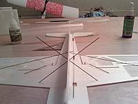 Name: 0211002231 (Medium).jpg Views: 711 Size: 49.7 KB Description: added landing gear. Check for wing tips level at this point and either adjust before gluing or trim after gluing.