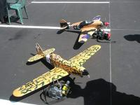 Name: P4120270r.jpg Views: 99 Size: 75.4 KB Description: My Macchi next to a Hurricane.  Both VQ planes.