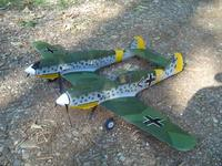 Name: DSC01332.jpg Views: 189 Size: 66.8 KB Description: Almost forgot my 109Z!  Two GWS 109s, bashed into an awesome twin flyer.