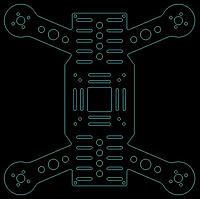 """Name: Quadcopter_H-257_V1-L.jpg Views: 222 Size: 76.1 KB Description: H-257 V1 Frame 257mm 7"""" Props"""