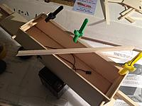 Name: from mobile device 1364.jpg Views: 190 Size: 361.7 KB Description: gluing wing saddle wood into the top of the fuselage cabin