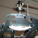 The main and tail rotor gears are pre-installed in the beautiful stacked aluminum frames.