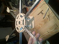 Name: 2011-08-26 08.00.03 (1).jpg Views: 109 Size: 135.1 KB Description: Hexa Frame with FPV mounting Plate.