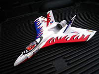 Name: IMG_1914.jpg Views: 148 Size: 35.6 KB Description: Pre-owned, This is a RTF Firebird, add your RX and battery pack,  Note: Crashed, nose broke off, repaired with epoxy and popicle stick re-inforced