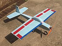 Name: Kestrel.JPG Views: 18 Size: 920.5 KB Description: 42 inch wingspan, 2200 mah 3S, 30 amp ESC, 900 kv 200 watt motor, 1050 prop.  AUW is 28 oz.