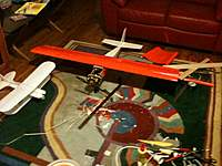 """Name: IMG_0170.jpg Views: 140 Size: 84.6 KB Description: The new wing ready to go.  On the left is a new, full-size (26"""" BYOB bipe)."""