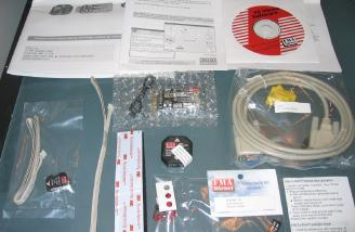 Box contents: All items were wrapped in plastic bags, the receiver in a bubble bag.
