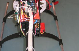 View from the tail. Notice the ribbon wire location on the tail boom.