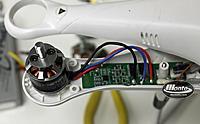Name: IMG_1790.jpg Views: 115 Size: 83.1 KB Description: MN2213 950Kv easily soldered to the Phantom ESC.  www.MontoRC.com