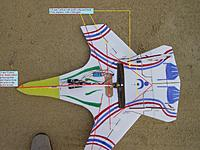 Name: SU 47 V2 JB Top View Carbon Rods.jpg Views: 39 Size: 305.0 KB Description: Like this plane is intended to do 3D aerobatic maneuvers it will need all of this carbon rods to give strength to the airframe.