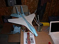 Name: P1010484.jpg Views: 235 Size: 62.7 KB Description: su-27 just pinned together long way to go