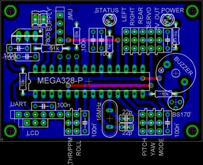 note that the atmega328 processor in this pcb cannot be programmed the same  way the arduino pro mini is programmed  for options see this post by kuba