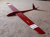 Name: t8393593-207-thumb-P1030567.jpeg Views: 147 Size: 8.7 KB Description: 2m carbon bagged wing with carbon tails and glass fuse.