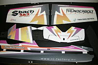 Name: IMG_6673.jpg Views: 470 Size: 168.0 KB Description: Great looking scheme.  Very vivid/sharp printing.  RC Factory sure has that down.  Very rigid EPP as well. OK.  Let's get this build started so we can get it in the air.